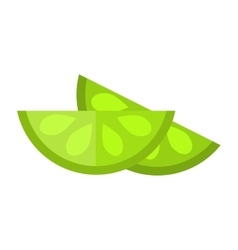 Lime slice vector
