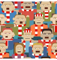Sports crowd seamless tile vector