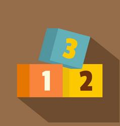 bricks icon flat style vector image