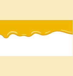 Yellow drips on white back lemon jelly or honey vector