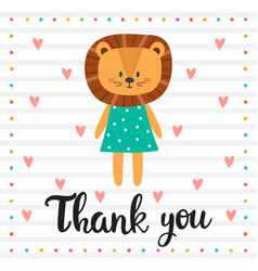 Thank you inspirational quote hand drawn vector