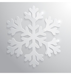 Glass snowflake christmas vector