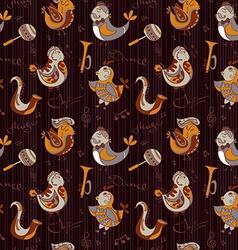 Cartoon jazz orchestra concept wallpaper Birds vector image