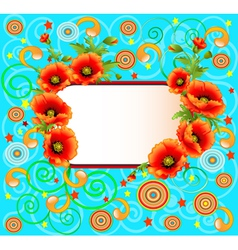 bright background with poppies vector image