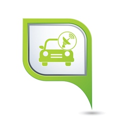 Cars satelite green pointer vector