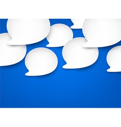 Paper white speech bubbles vector