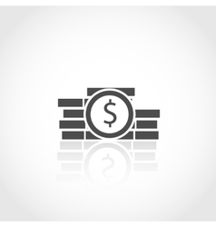 Dollar coins icon Financial concept vector image