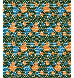 Geometric maze seamless pattern endless backgro vector image