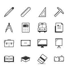 Set of education icons  eps10 format vector