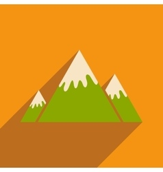 Flat icon with long shadow canadian mountain vector