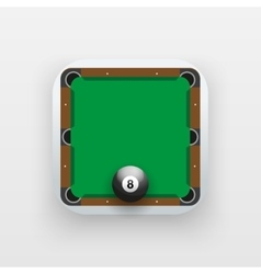 Square icon of billiard sport vector