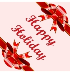 Red bows holiday background vector
