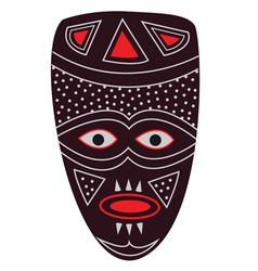 African mask vector image vector image