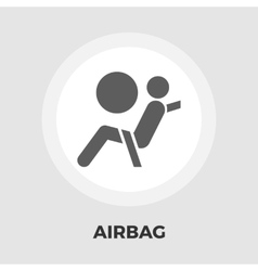 Airbag flat icon vector