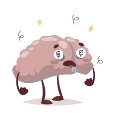 Bad brain and headache vector
