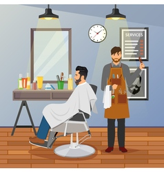 Barber shop flat design vector