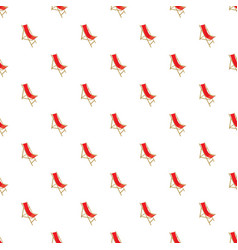 beach chair pattern vector image