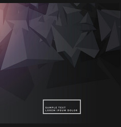 Black background with abstract polygon shapes vector
