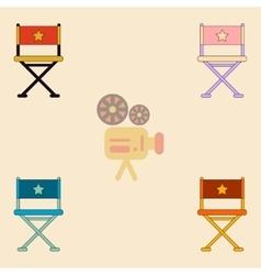 Cinema producer seat vector