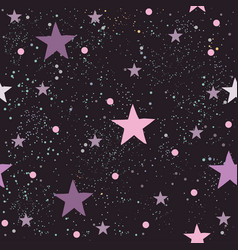 Cute striped pattern with abstract stars and tiny vector