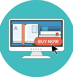 E-book buying concept Flat design Icon in vector image vector image