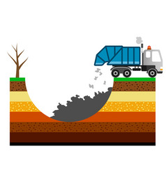 environment pollution with garbage vector image vector image