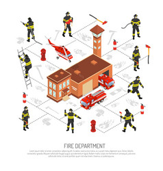 fire department infographic vector image vector image