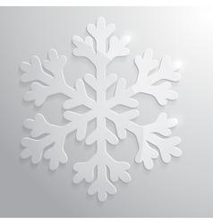 Glass snowflake Christmas vector image