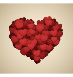 Heart made of hearts vector image