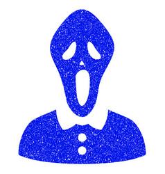 Horror grunge icon vector