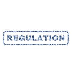 Regulation textile stamp vector