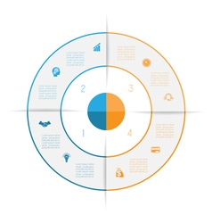 Ring from colored lines infographic 4 vector