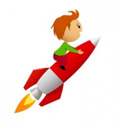 rocket ride vector image vector image