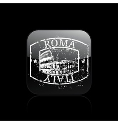 rome single grunge vector image vector image