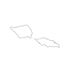 Samoa map outline vector