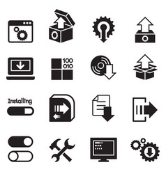 setup configuration maintenance installation vector image vector image