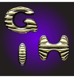 silver letters with gold vector image
