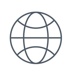 sphere global symbol vector image vector image