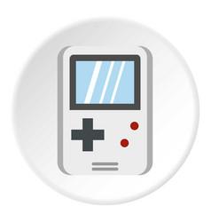 Tetris for games icon circle vector