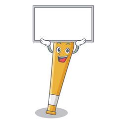 Up board baseball bat character cartoon vector