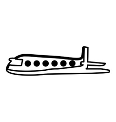 Airplane flying isolated icon vector