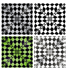 Abstract checkered background set eps10 vector image