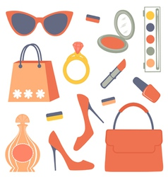 Fashionable set vector image