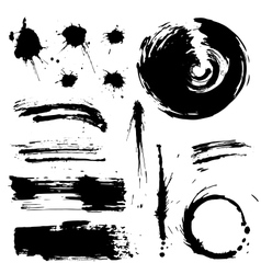 Grunge blots and splash silhouette vector
