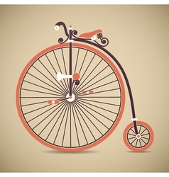 Penny farthing old style antique bicycle vector