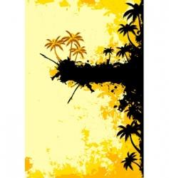 grunge tropical landscape vector image
