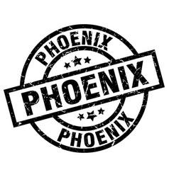 Phoenix black round grunge stamp vector