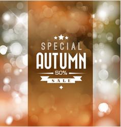 autumn sale retro poster vector image