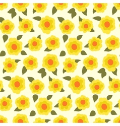 Ditsy floral pattern with small daffodils vector