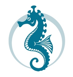 Blue seahorse vector